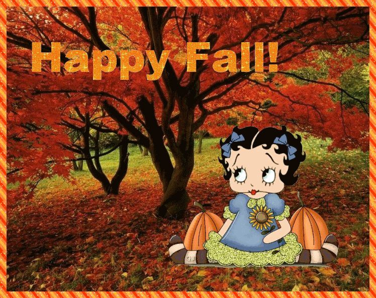 Happy fall betty boop betty boop pictures betty boop