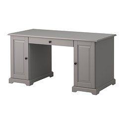 LIATORP Schreibtisch, Grau