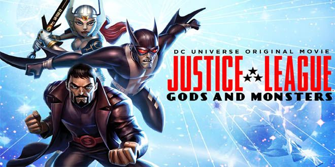 Justice League Gods and Monsters is a 2015 animated action fantasy movie staring Benjamin Bratt, Tamara Taylor, Michael C hall for the voices of the leading roles.