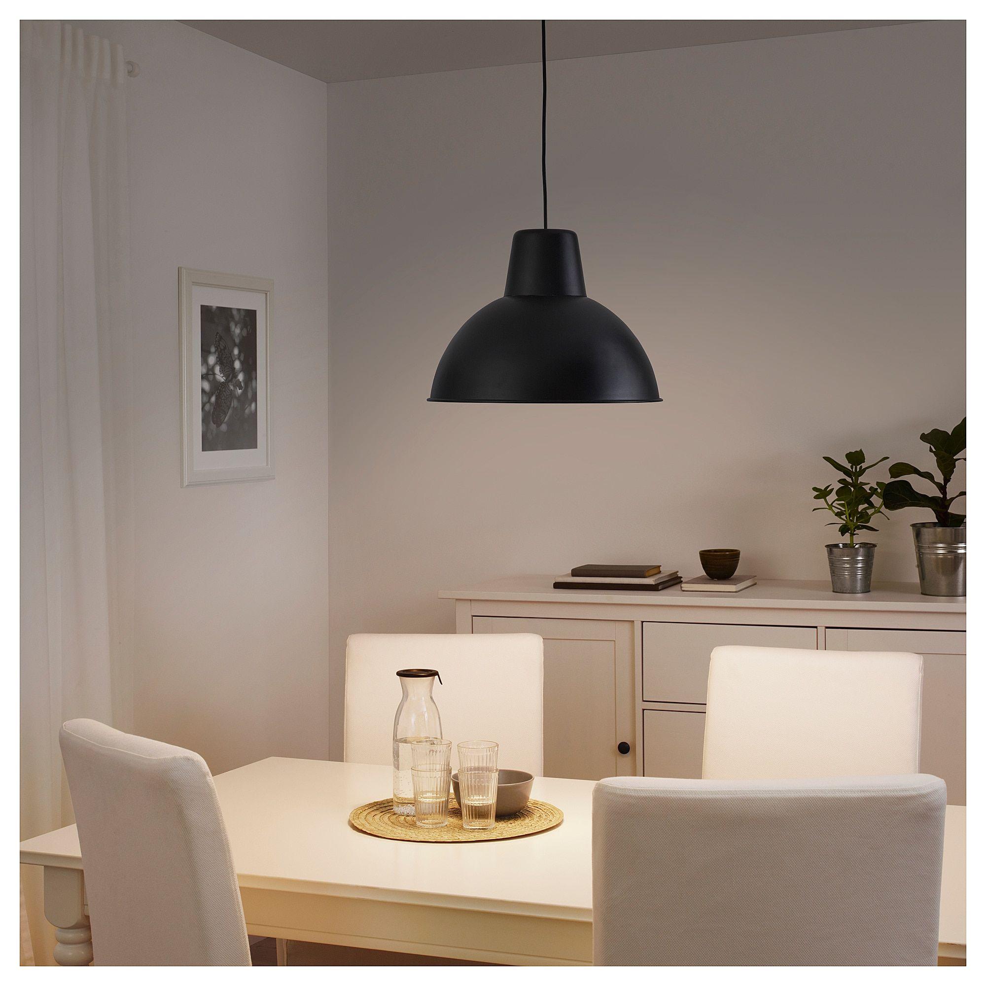 Skurup Pendant Lamp Black 15 38 Cm En 2020 Luminaires Salle A Manger Suspension Ikea Lampe Suspendue