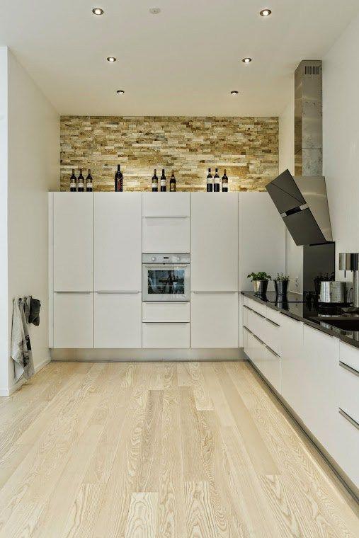 Muebles de cocina lacados blanco brillo apertura gola lacada en ...