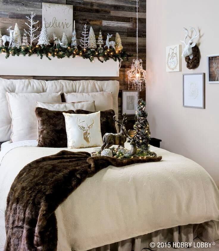 25 Christmas Bedroom Decoration Ideas To Inspire You in