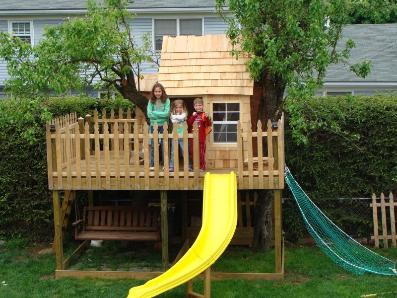 Exceptional Kids Tree House Ideas | Landscaping Ideas U0026 Garden Ideas U003e Kids Treehouse Part 7