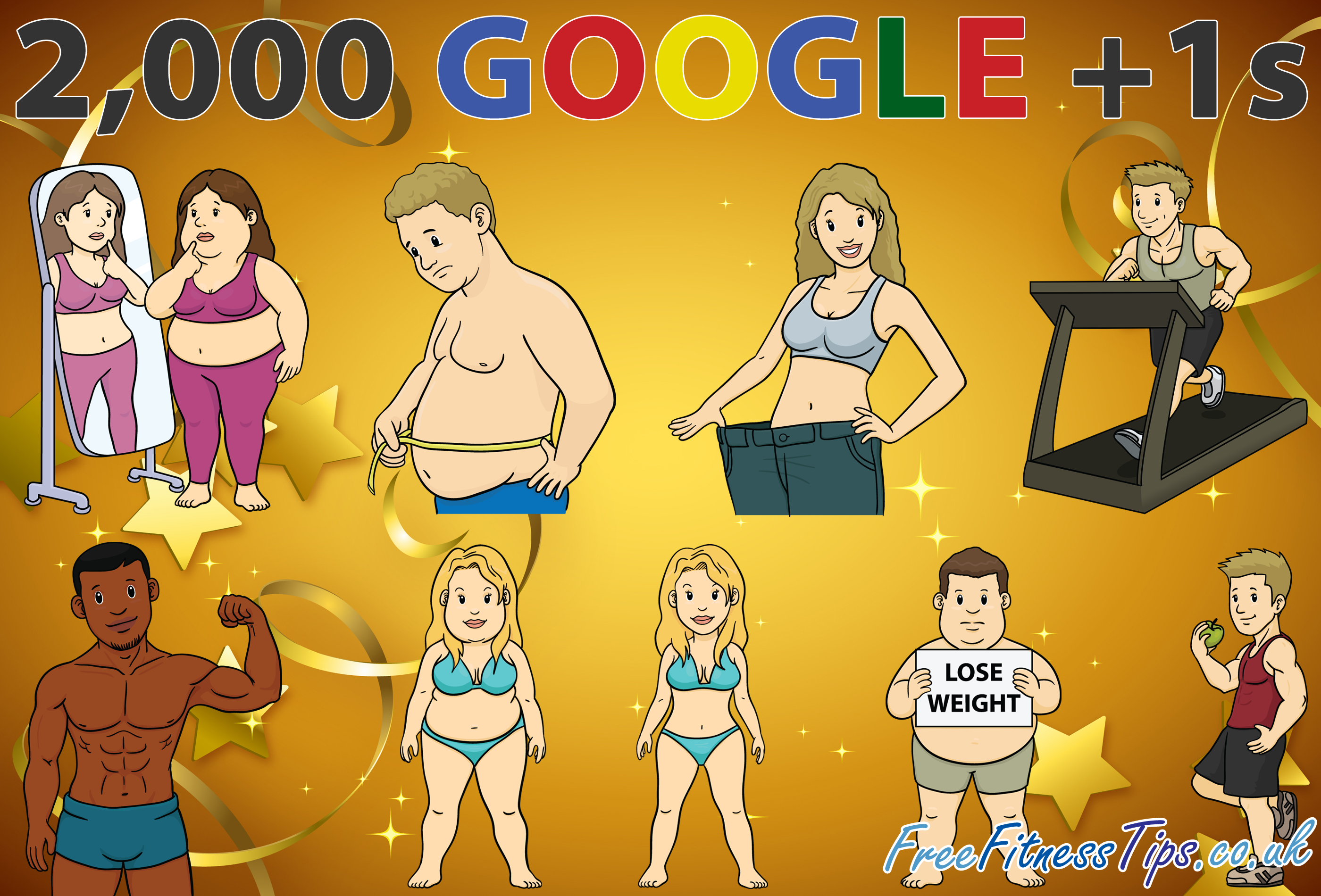 Free Fitness Tips has just reached 2,000 Google +1s. Click the pic to Circle & +1 the Free Fitness Tips page on Google Plus.