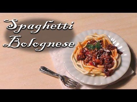 ▶ Polymer clay tutorial; Simple miniature spaghetti bolognese - YouTube