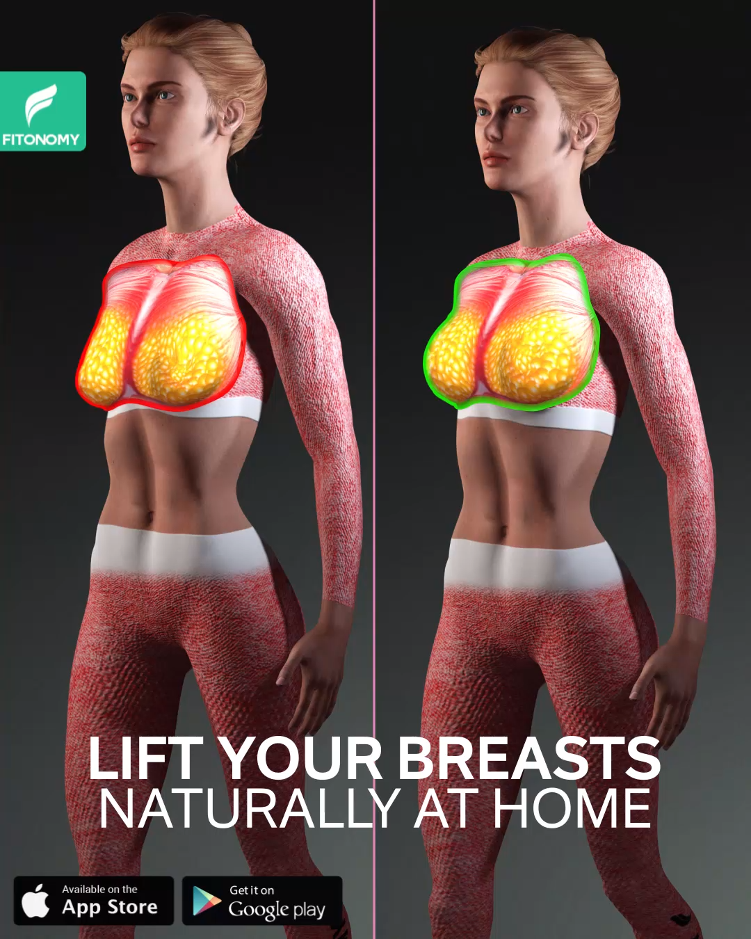 LIFT YOUR BREASTS NATURALLY AT HOME