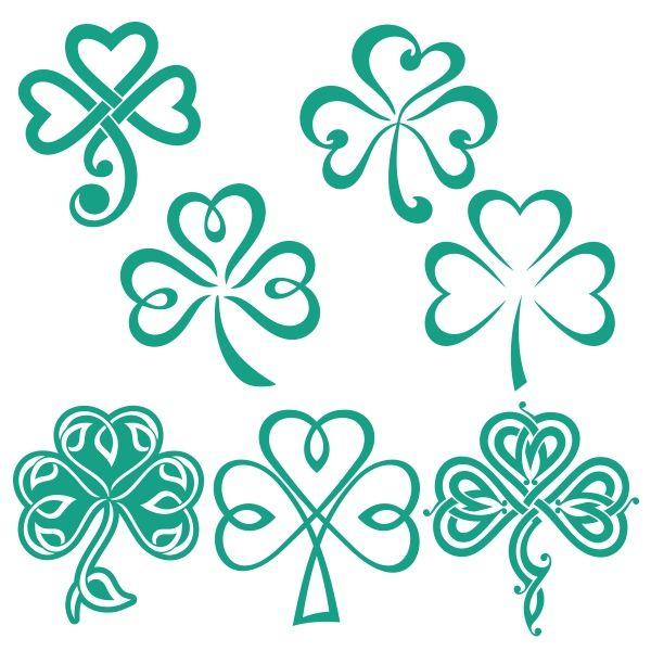 Trébol de la suerte de los diseños Cuttable irlandesa Svg | tatuajes ...