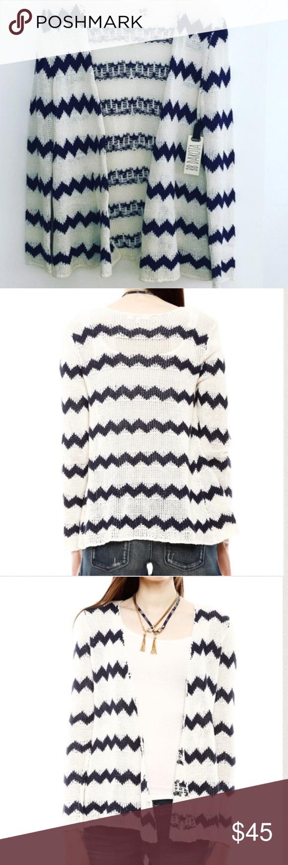 BB DAKOTA Chevron Open Front Sweater NWT Zigzag New with tags ...