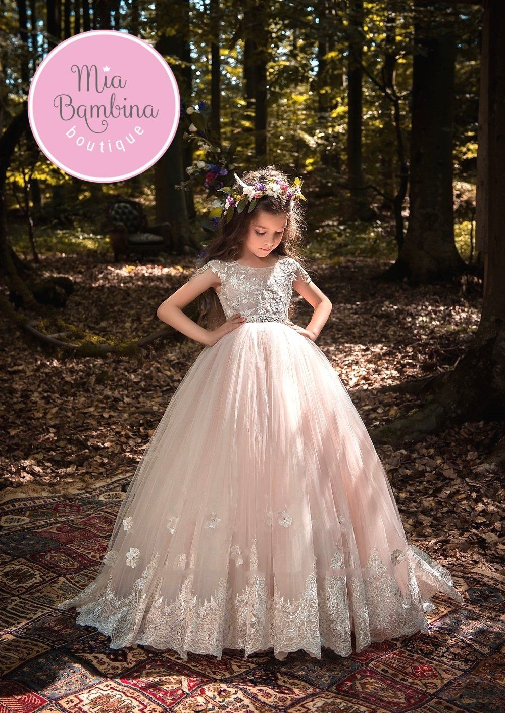2565e04543 The Bergamo dress by Mia Bambina Boutique. Tulle and Lace ball gown for  weddings