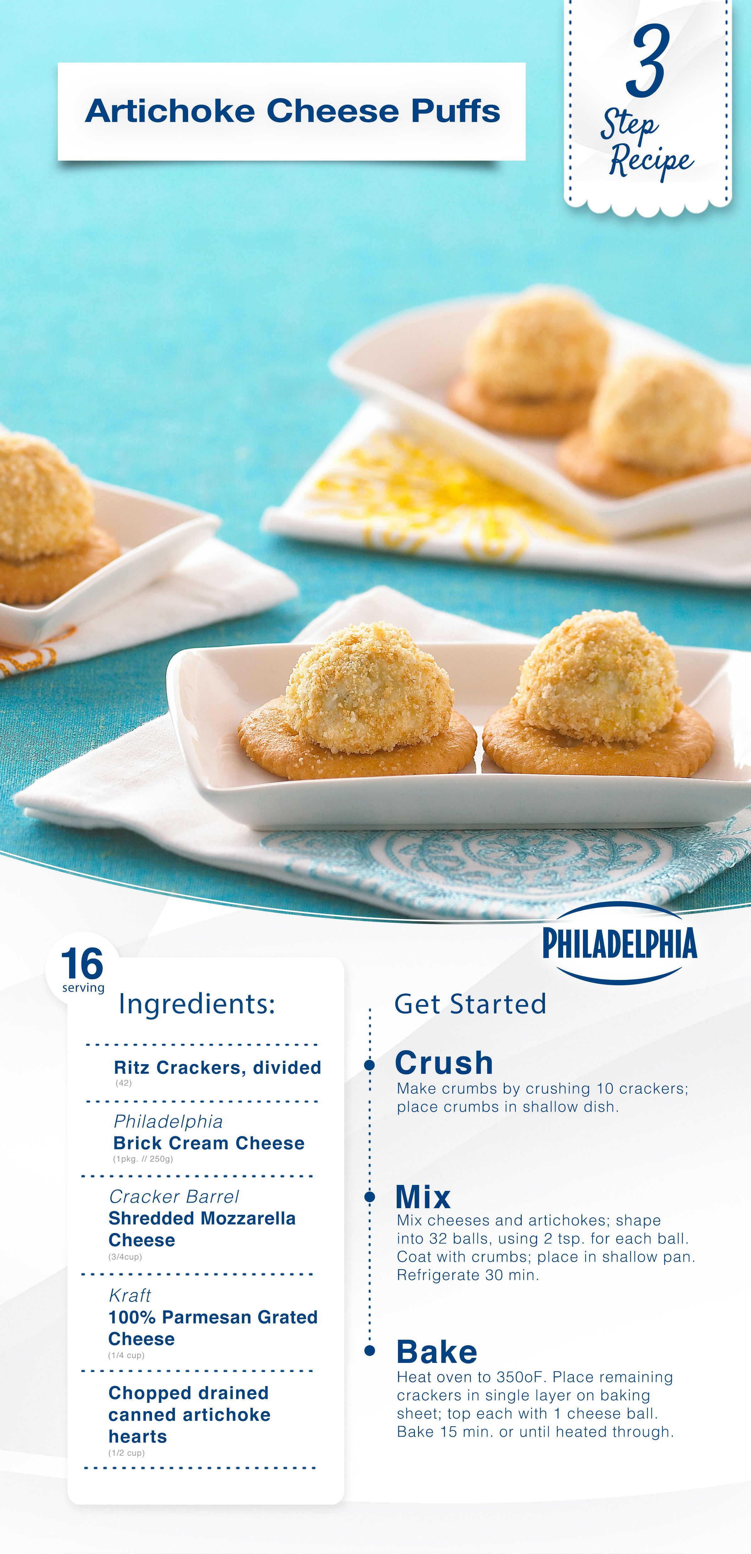 Artichoke Cheese Puffs Yummy Appetizers Parties Snack Recipes Cheese Puffs