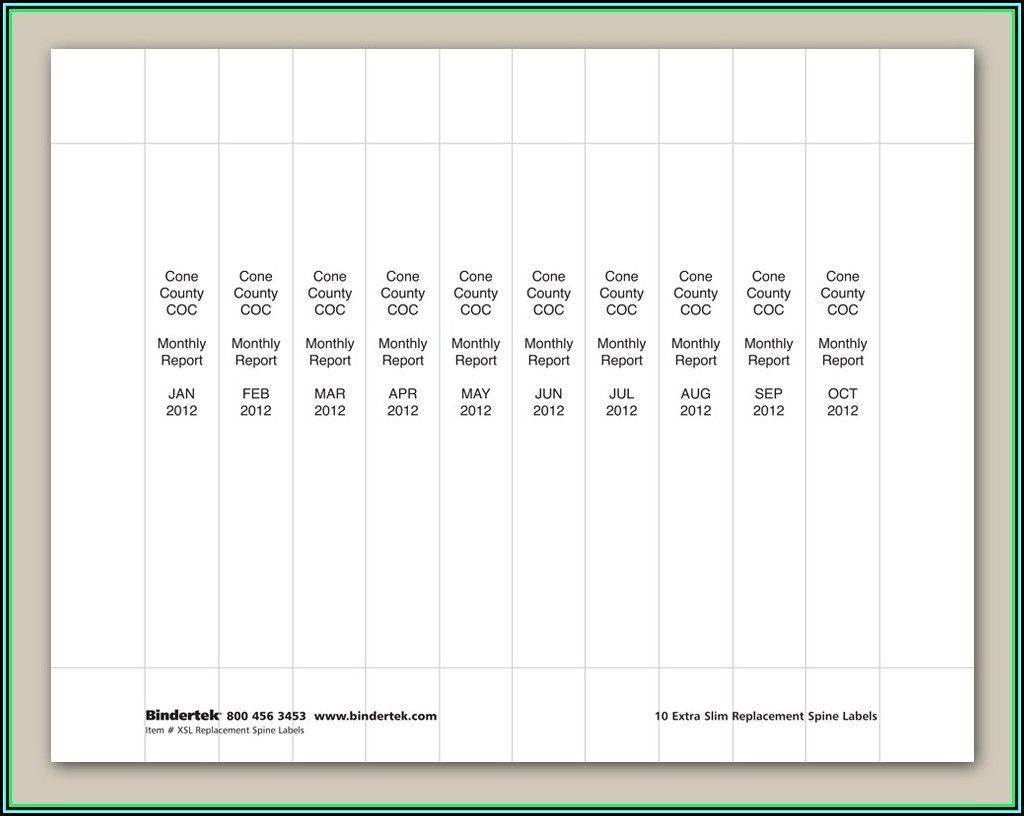 006 Avery Binder Templates Spine Inch Template Singular 1
