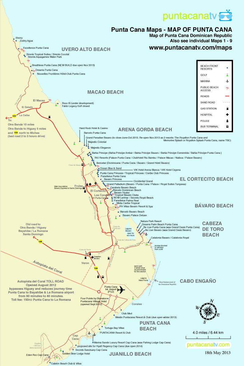 Punta Cana Resorts Map Map of Resorts in Punta Cana, Dominican Republic Huracan Cafe   in