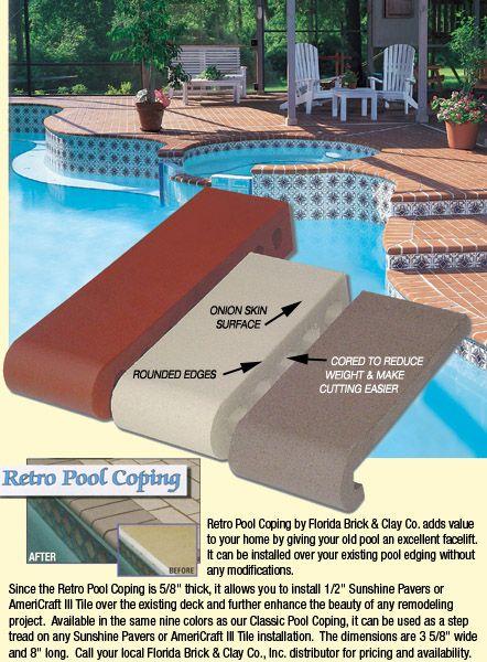 Retro Pool Coping Pool Coping Pool Pool Designs