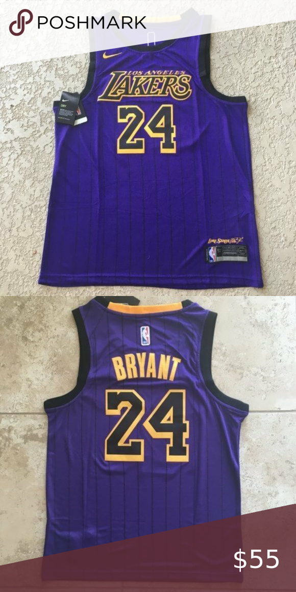 Kobe Bryant La Lakers 24 City Edition Purple In 2020 Kobe Bryant La Lakers La Lakers Kobe Bryant