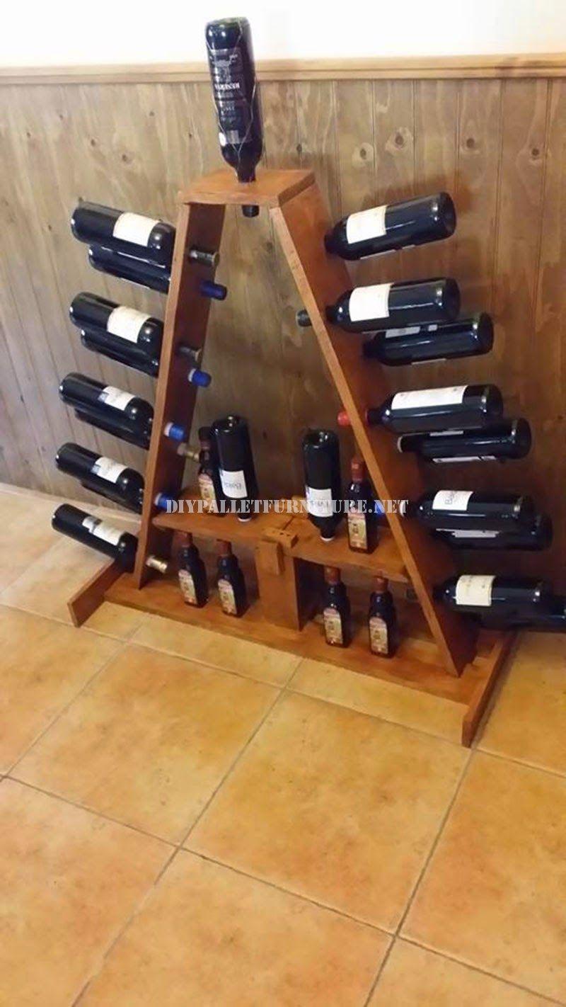 Muebles de palets opciones de botelleros de vino realizados con pale muebles de palets en - Botelleros de madera para vino ...