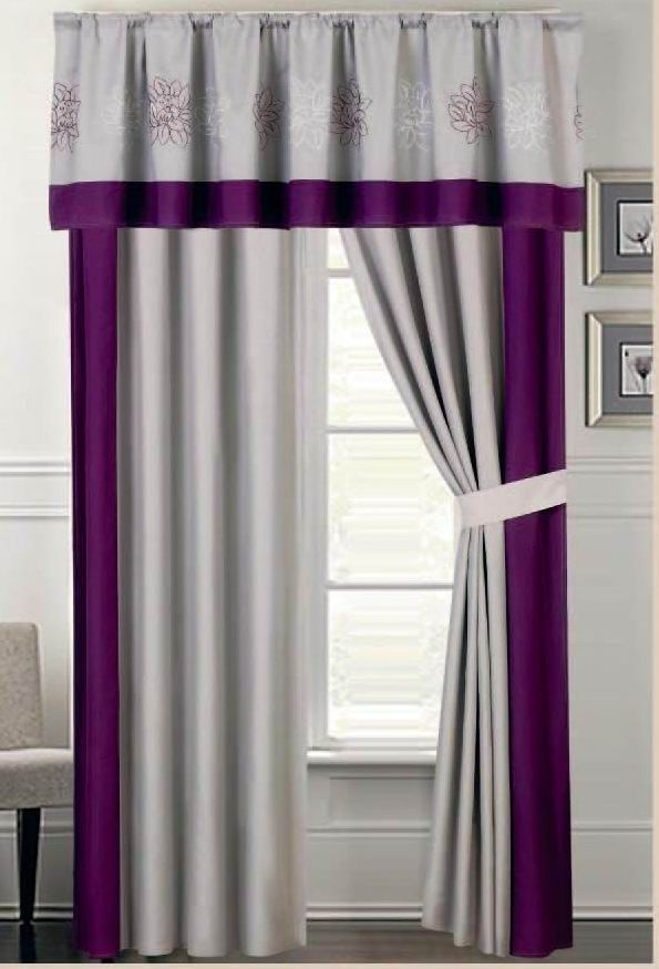 Provence Embroidered Curtain Set
