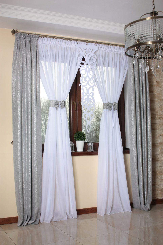 Firany Gotowe Zaslony Ekrany Firanki Living Room Decor Curtains Red Curtains Living Room Living Room Decor Colors