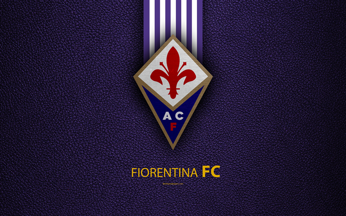 ACF Fiorentina: Download wallpapers Fiorentina FC, 4K, Italian football club, Serie A, emblem, logo, le...