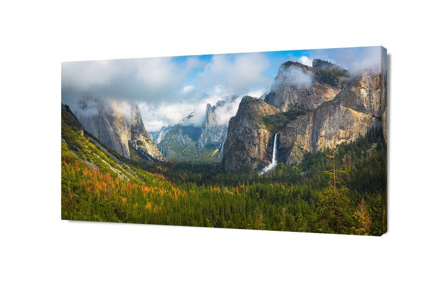 Large Yosemite Canvas Art Yosemite National Park Mountain Etsy In 2020 Farmhouse Decor Yosemite Canvas Art