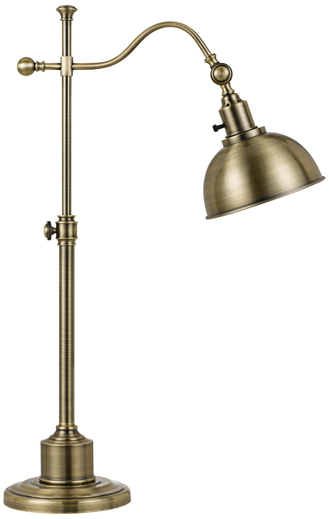 Portico Antique Brass Adjustable Pharmacy Desk Lamp