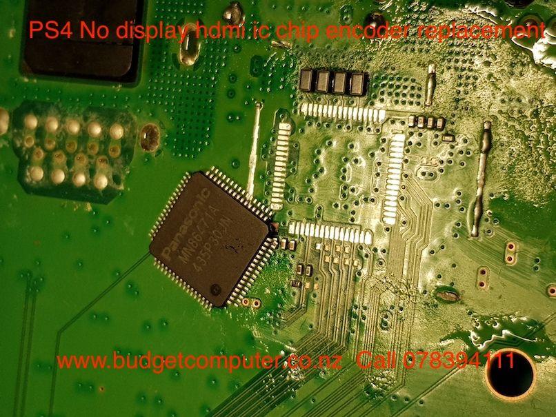 ps4 no display hdmi ic chip encoder replacement | gaming