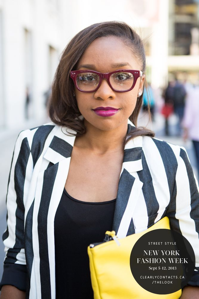 Matching your #lipstick with the colour of your #frames can pull the whole look together which fashion blogger Cortnie Elizabeth has done. http://instagram.com/cortnieelizabeth #NYFW #MBFW #StreetStyle #theLOOK
