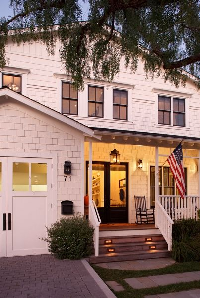 Peek Inside This West Coast Farmhouse That S Packed With Classic East Coast Style House Exterior Farmhouse Exterior Carriage Style Garage Doors