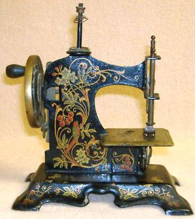 Antique German Toy Miniature Sewing Machine.
