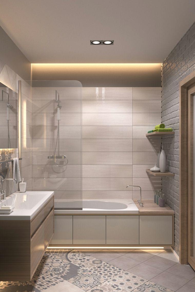 Vasca con vetro scorrevole idee bagno piastrelle con le for Bagno piastrelle