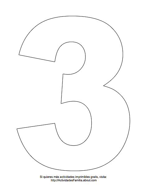 Imágen Del Número 1 Para Imprimir Gratis Y Colorear Dibujos Para