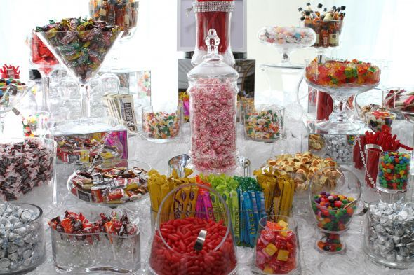 Excellent Multi Colored Candy Bar With Good Candy Candy Buffet Beutiful Home Inspiration Papxelindsey Bellcom