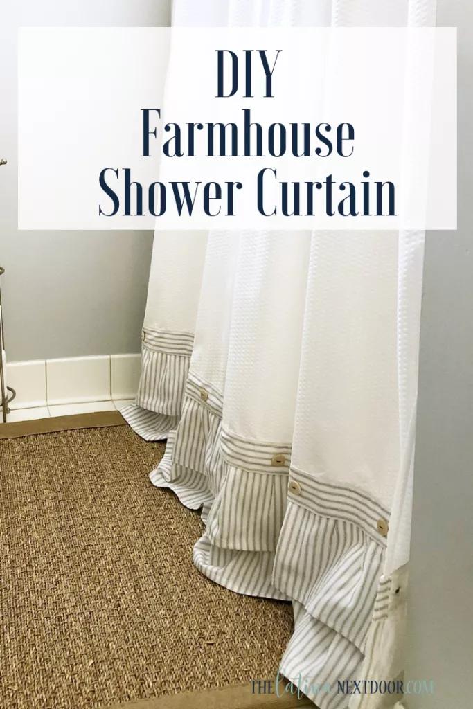 Diy Farmhouse Shower Curtain Farmhouse Shower Farmhouse Shower