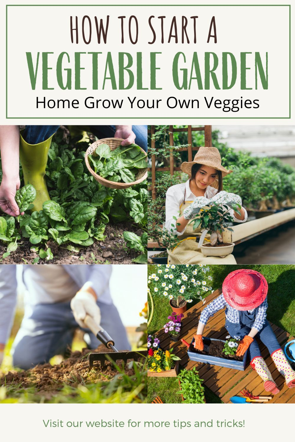 As more and more people become conscious not only of what they are  eating, but also where it comes from, gardening is becoming more popular.  Planting your own vegetable garden has many benefits.  Produce can be canned or frozen for the winter months, which helps to keep your grocery bills down and also ensures that your family has fruits and vegetables to eat during the winter. #gardening #vegetable