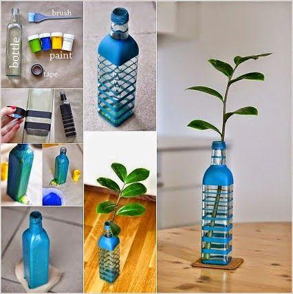 Decoracion hogar decoracion diy manualidades comunidad google diy botellas y tarros - Manualidades hogar decoracion ...