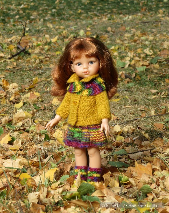 Цветочные мотивы. Игровые куклы Paola Reina. Одежда своими