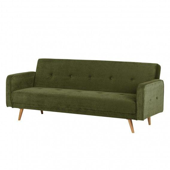 Canape Convertible Daru Velours Vert Sofa Sofa Furniture