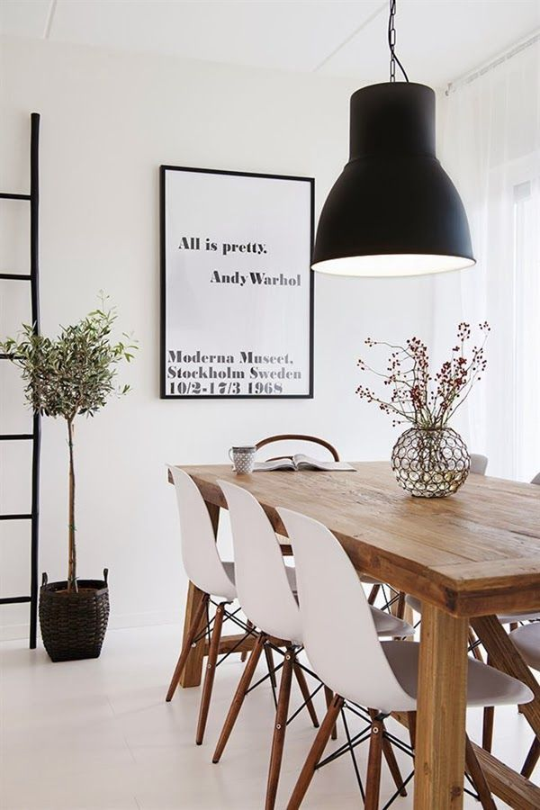 All Is Pretty Andy Warhol  Skandinavisches Design  Pinterest Cool White Wooden Dining Room Chairs Design Inspiration