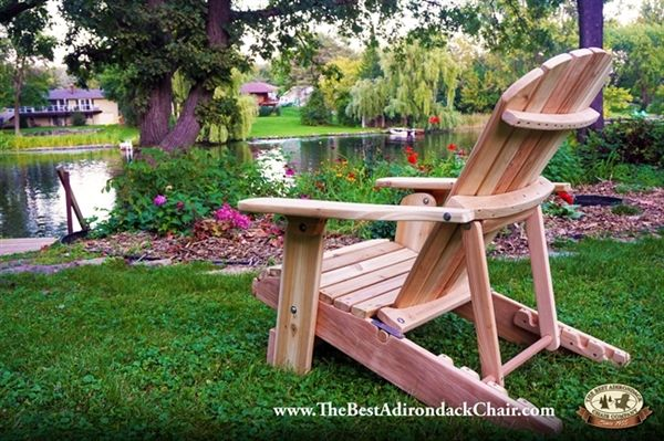 4 Position Adjustable Reclining Adirondack Chair (With