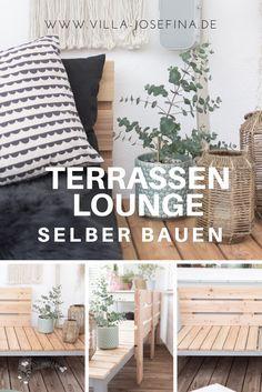 Terrassen Lounge selber bauen | Villa Josefina #apartmentgardening