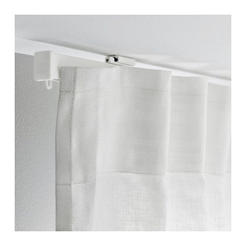 Vidga Single Track Rail White 55 Ikea Ceiling Mounted Curtains Curtains Ikea