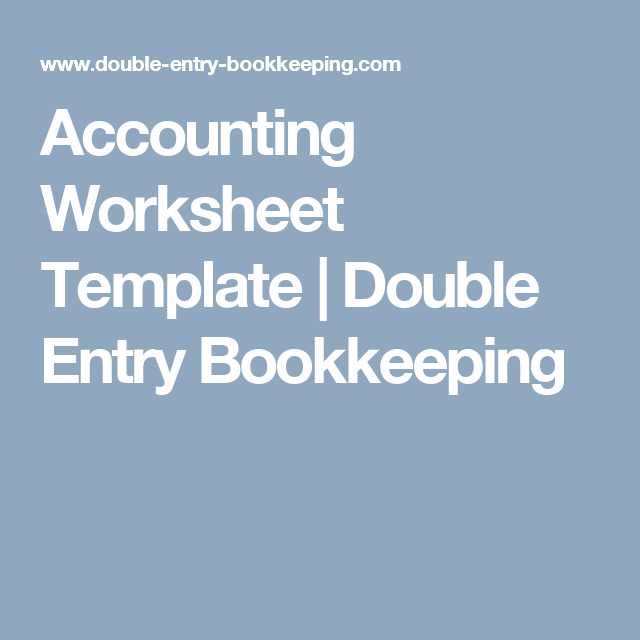 accounting worksheet template a pinterest accounting