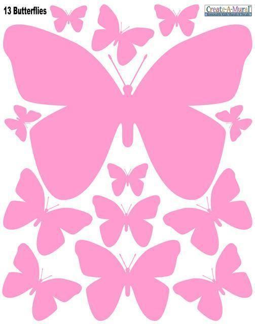 Butterfly Wall Decals-Pink in 2019   Butterflies   Pinterest ...
