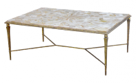 Pieced Agate Top Cocktail Table