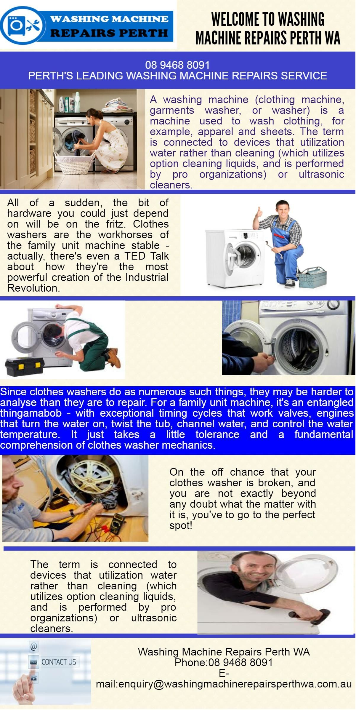 we provide all types of washing machine repairs in wa at very cheap