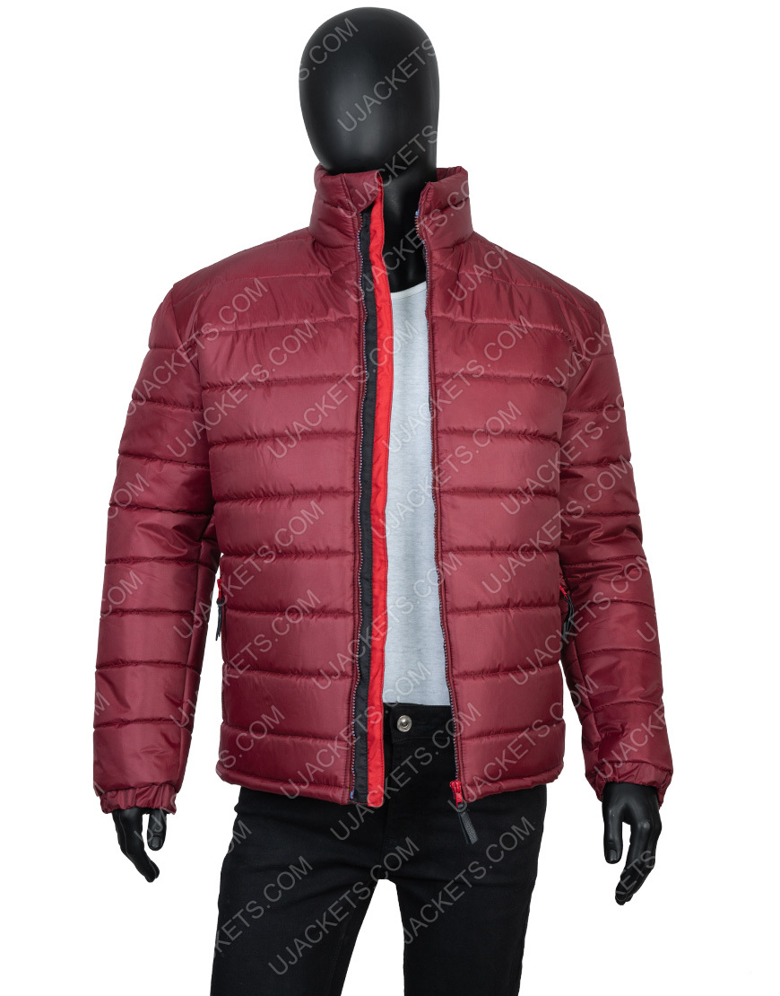 Burgundy Quilted Bomber Jacket Mens Down Puffer Jacket Coats Jackets Quilted Bomber Jacket Burgundy Jacket Mens Bomber Jacket Men [ 1110 x 870 Pixel ]