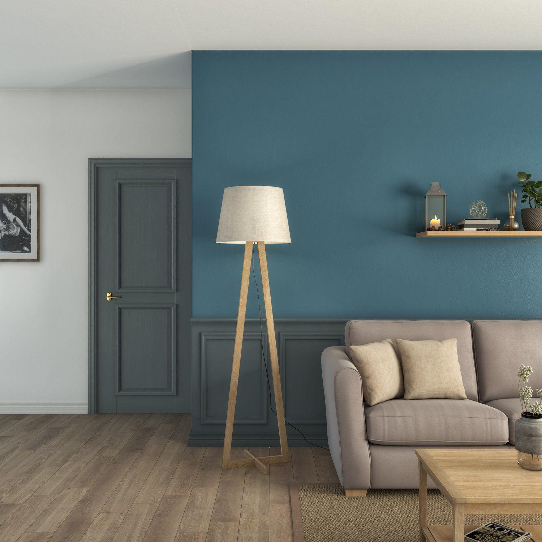 Un Salon Combiné De Bleus Décoration Salon Bleu