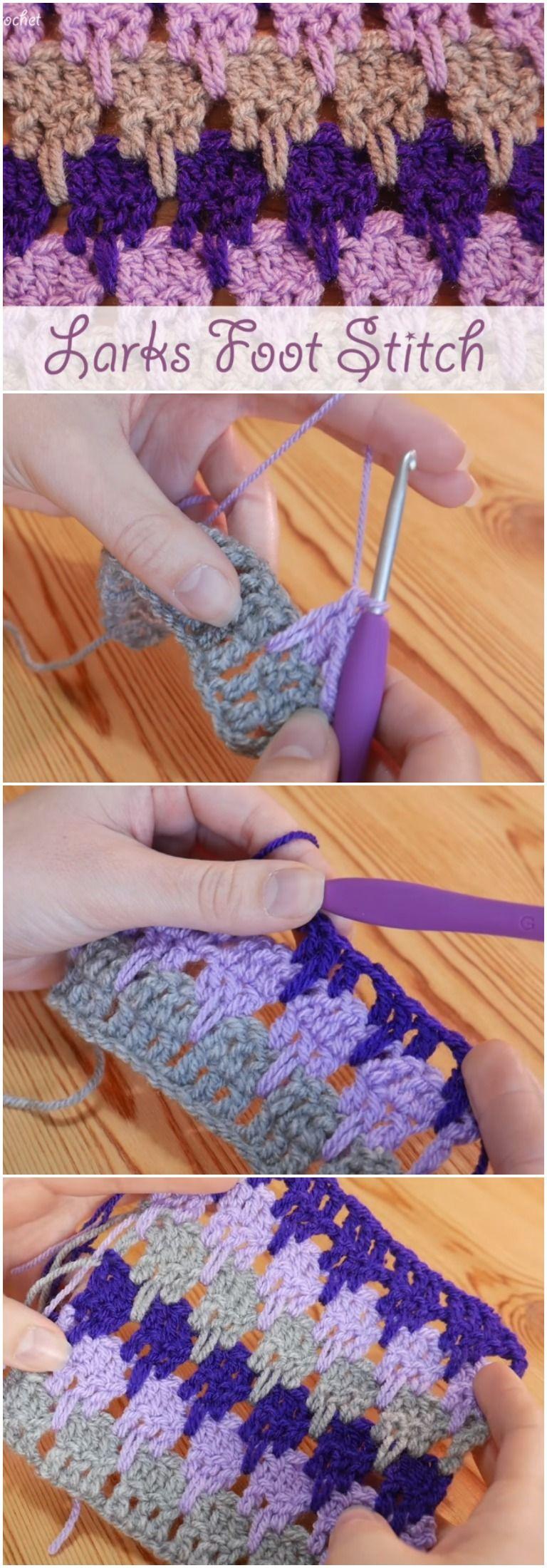Crochet Larks Foot Stitch Ideal For Scarves Blankets Crochet