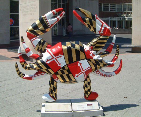 Maryland is known for crabs as depicted here with the MD. flag formed into  the shape of a crab! | Baltimore maryland, Maryland flag, Maryland crabs