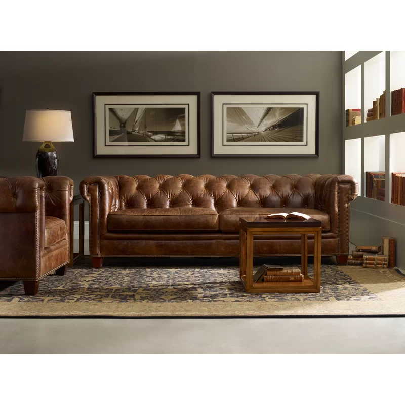 Charlton Home Andersontown Stationary Leather Chesterfield Sofa Reviews Wayfair Leather Chesterfield Sofa Quality Sofas Home
