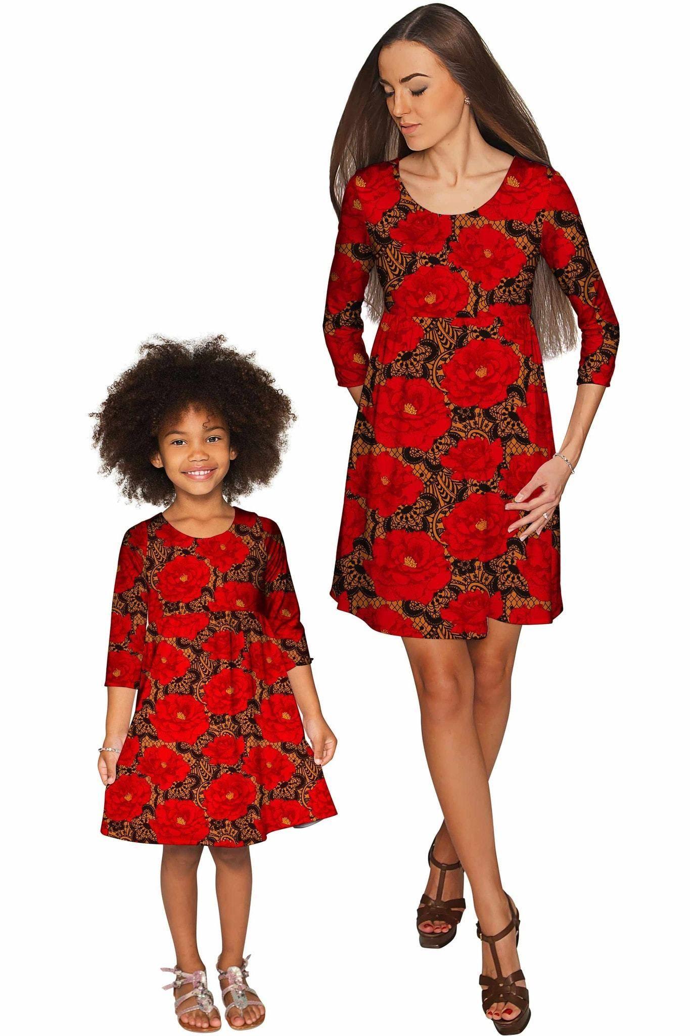 Hot tango gloria empire waist floral mommy and me dress tango
